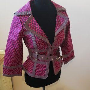 LKNW Arden B 3/4 sleeve jacket blazer leather S